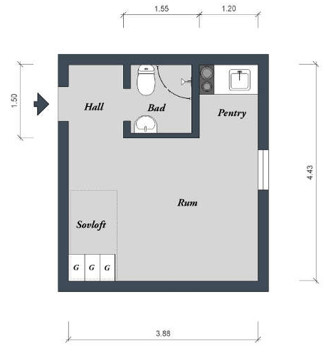 интерьер - план коммунальной квартиры