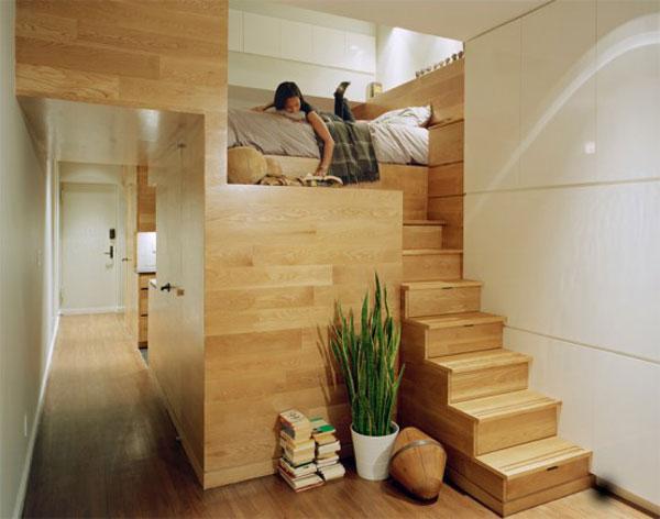 спальня маленькой квартиры