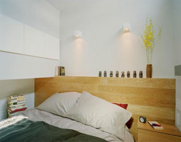 кровать маленькой квартиры