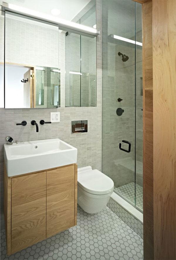 ванная комната маленькой квартиры